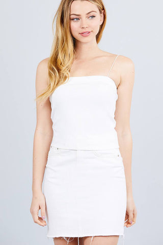 Image of My Bargain Boutique Off White / S Elastic Strap Tube Top
