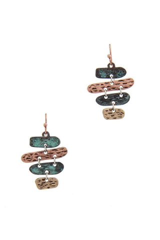 My Bargain Boutique Patina Oval Dangle Drop Earring