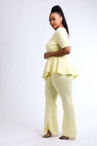 Image of My Bargain Boutique Peplum Top & Pants Set