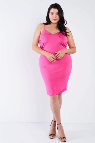 Image of My Bargain Boutique Pink / 1XL Cami Mini Dress