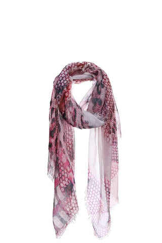 My Bargain Boutique Pink Chic Soft Animal Pattern Print Scarf