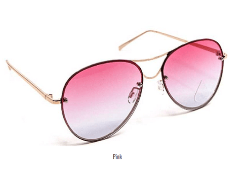 My Bargain Boutique Pink Modern Princess Sunglasses