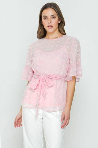 Image of My Bargain Boutique Pink / S Pom-Pom Top