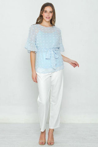 Image of My Bargain Boutique Pom-Pom Top