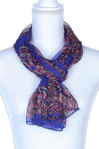 My Bargain Boutique Purple Colorful Pattern Oblong Scarf