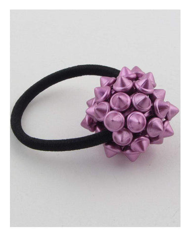 My Bargain Boutique Purple Hair Elastic w/Spike Ball