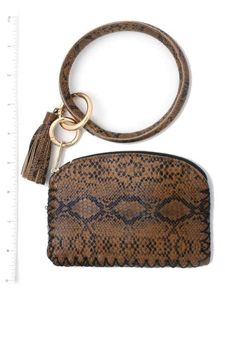 Image of My Bargain Boutique Python Pattern Pouch