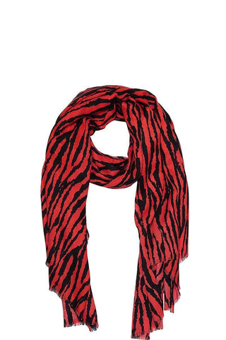Image of My Bargain Boutique Red Modern Zebra Print Scarf