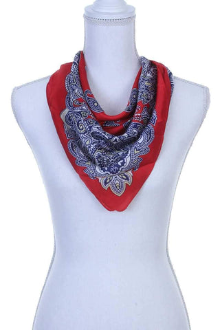 My Bargain Boutique Red Paisley Pattern Bandanna Scarf