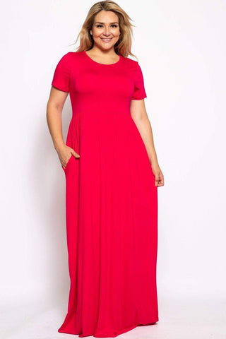 Image of My Bargain Boutique Red / XL Vibrant Maxi Dress