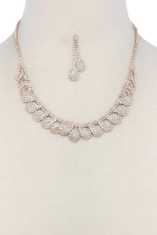 Image of My Bargain Boutique Rose Gold Rhinestone Necklace