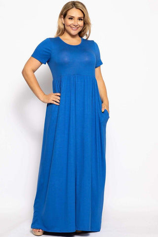 Image of My Bargain Boutique Royal / XL Vibrant Maxi Dress