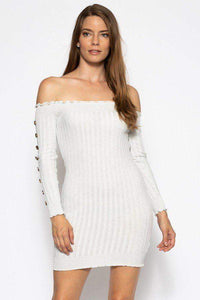 My Bargain Boutique S Off The Shoulder Knit Sweater Dress