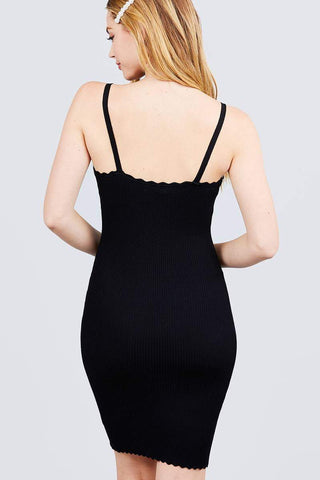 Image of My Bargain Boutique Scallop Edge Mini Dress