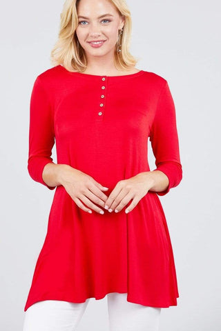 Image of My Bargain Boutique Scarlet / S Placket Top