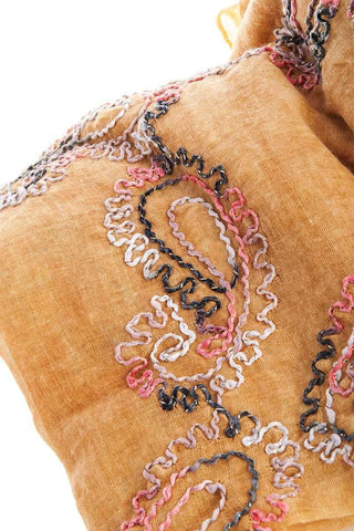 My Bargain Boutique Sheer Embroidered Oblong Scarf