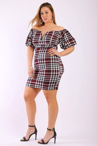 My Bargain Boutique Short Plaid Dress