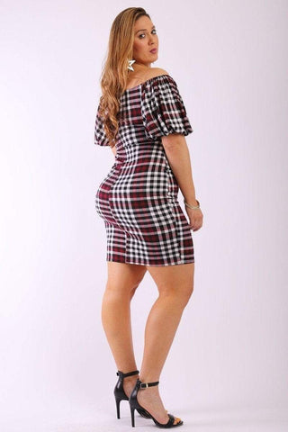 Image of My Bargain Boutique Short Plaid Dress