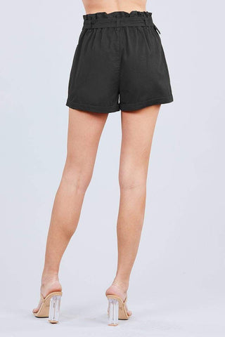 Image of My Bargain Boutique Side Pocket Paper Bag Short Pants