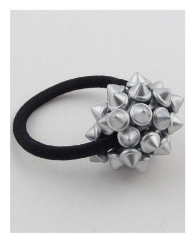 My Bargain Boutique Silver Hair Elastic w/Spike Ball