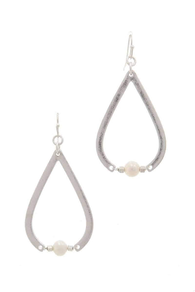 Pearl Bead Teardrop Shape Earring - My Bargain Boutique - Affordable Women's Clothing