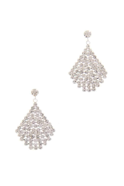 My Bargain Boutique Silver Rhinestone Drop Earring