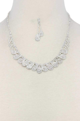 Image of My Bargain Boutique Silver Rhinestone Necklace