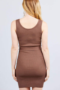 My Bargain Boutique Sleeveless Sweater Mini Dress