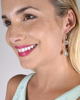 My Bargain Boutique Stone and Crystal Studded Fishhook Drop Earrings