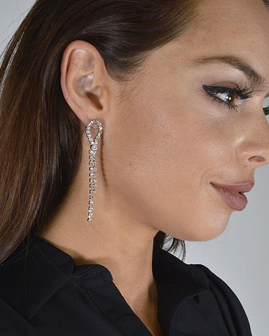 My Bargain Boutique Stone Studded Drop Earrings