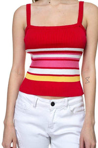 My Bargain Boutique Stripe Sweater Cropped Top