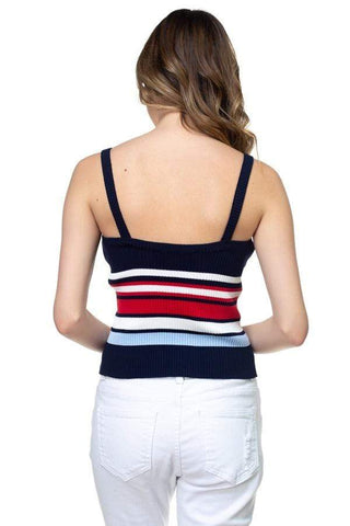Image of My Bargain Boutique Stripe Sweater Cropped Top