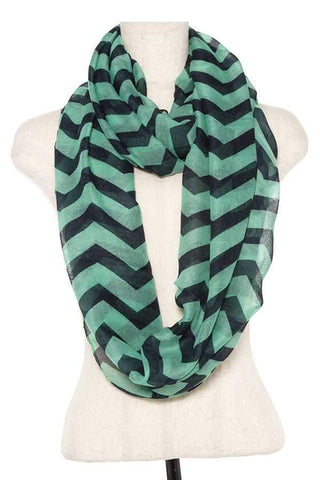 My Bargain Boutique Striped Infinity Scarf