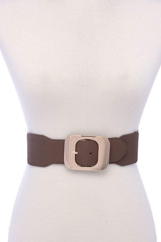 My Bargain Boutique Taupe Fashion Stretch Chic Belt