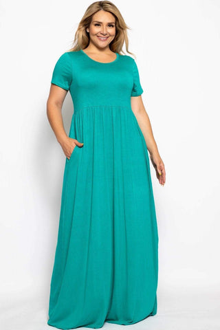 Image of My Bargain Boutique Teal / XL Vibrant Maxi Dress