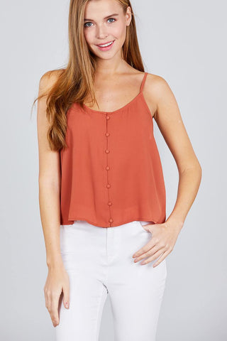 Image of My Bargain Boutique Terracotta Rose / S Cami Woven Top