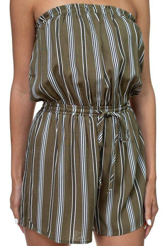 Image of My Bargain Boutique Tube Top Stripe Romper