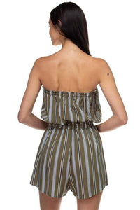 My Bargain Boutique Tube Top Stripe Romper