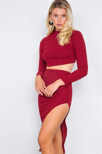 My Bargain Boutique Two Piece Crop Top Skirt Set