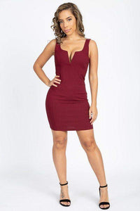 My Bargain Boutique V-Wire Neckline Sleeveless Mini Dress