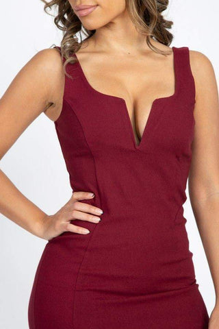 Image of My Bargain Boutique V-Wire Neckline Sleeveless Mini Dress
