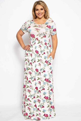 Image of My Bargain Boutique White Floral / 1XL Summer Sun Dress