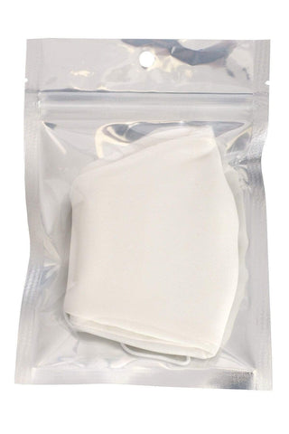 My Bargain Boutique White Made In USA 3D Reusable Water Resistant Face Mask