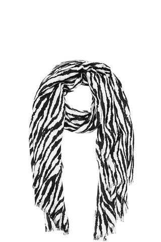 Image of My Bargain Boutique White Modern Zebra Print Scarf