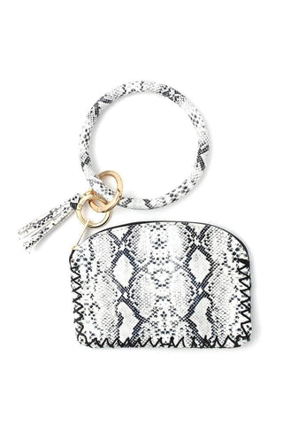 My Bargain Boutique White Python Pattern Pouch