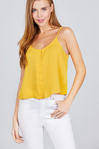 Image of My Bargain Boutique Yellow / S Cami Woven Top
