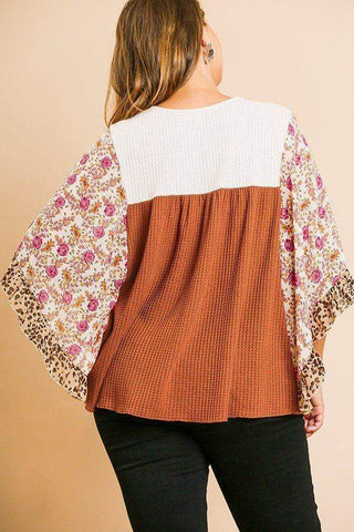 Image of My Bargain Boutique Yoke Knit Top
