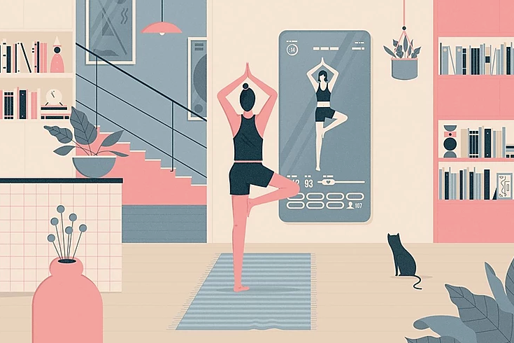 The Hottest Fitness Class Now: Working Out Alone at Home
