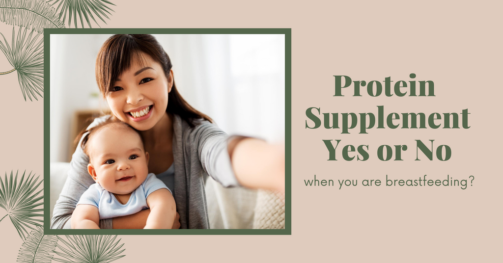 Mom and baby with title is protein supplement ok when you are breastfeeding