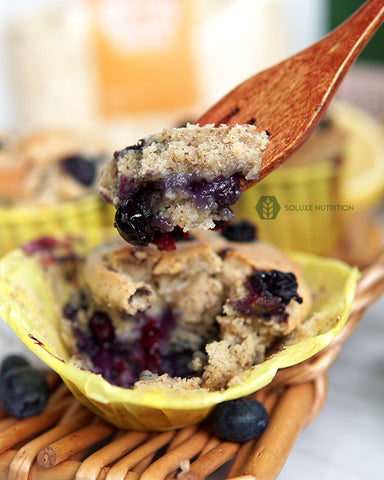 Soluxe Baked Vegan Blueberry Muffin